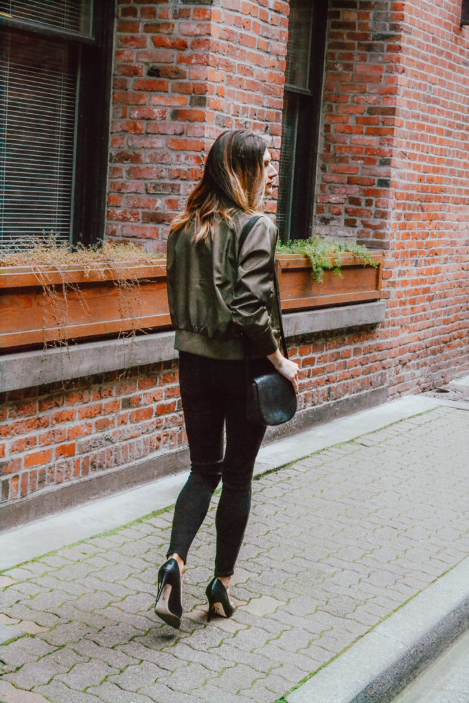 The Grey Edit-Olive Bomber Seattle